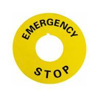 Табличка маркировочная EMERGENCY STOP - фото