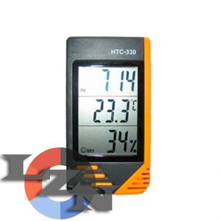 Фото гигрометра-термометра HTC-330 (с часами)